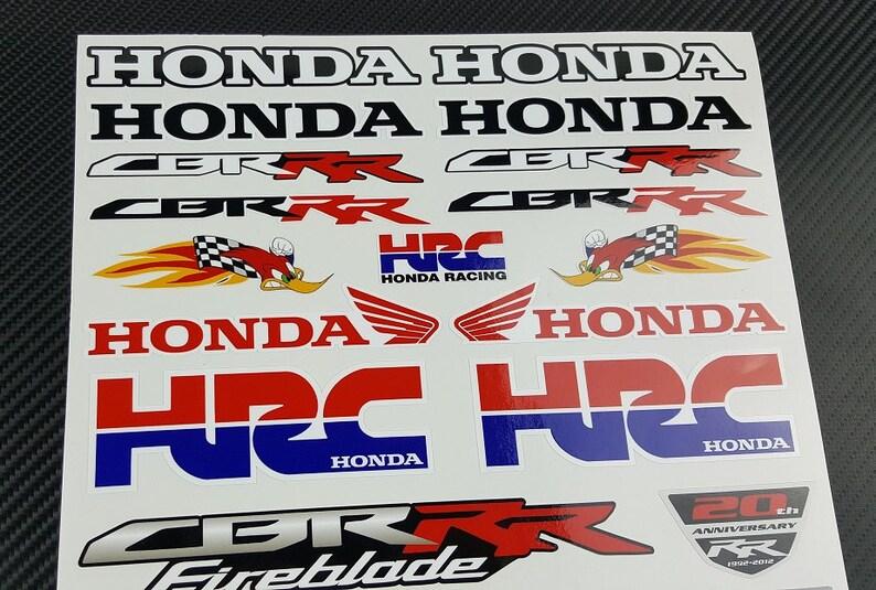 Honda HRC Woody Racing motorcycle stickers fairing tank decals CBR1000RR  CBR600RR cbr rr motorbike Laminated