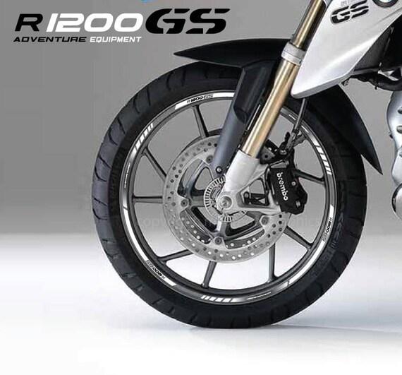 bmw r1200gs adventure autocollants de roues moto set etsy. Black Bedroom Furniture Sets. Home Design Ideas