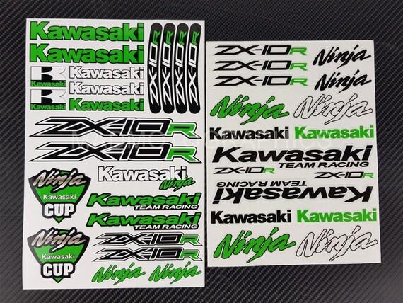 Zx 10r Ninja Motorrad Aufkleber Verkleidung Kawasaki Zx10r Zx10 R Grafik Laminiert Grün