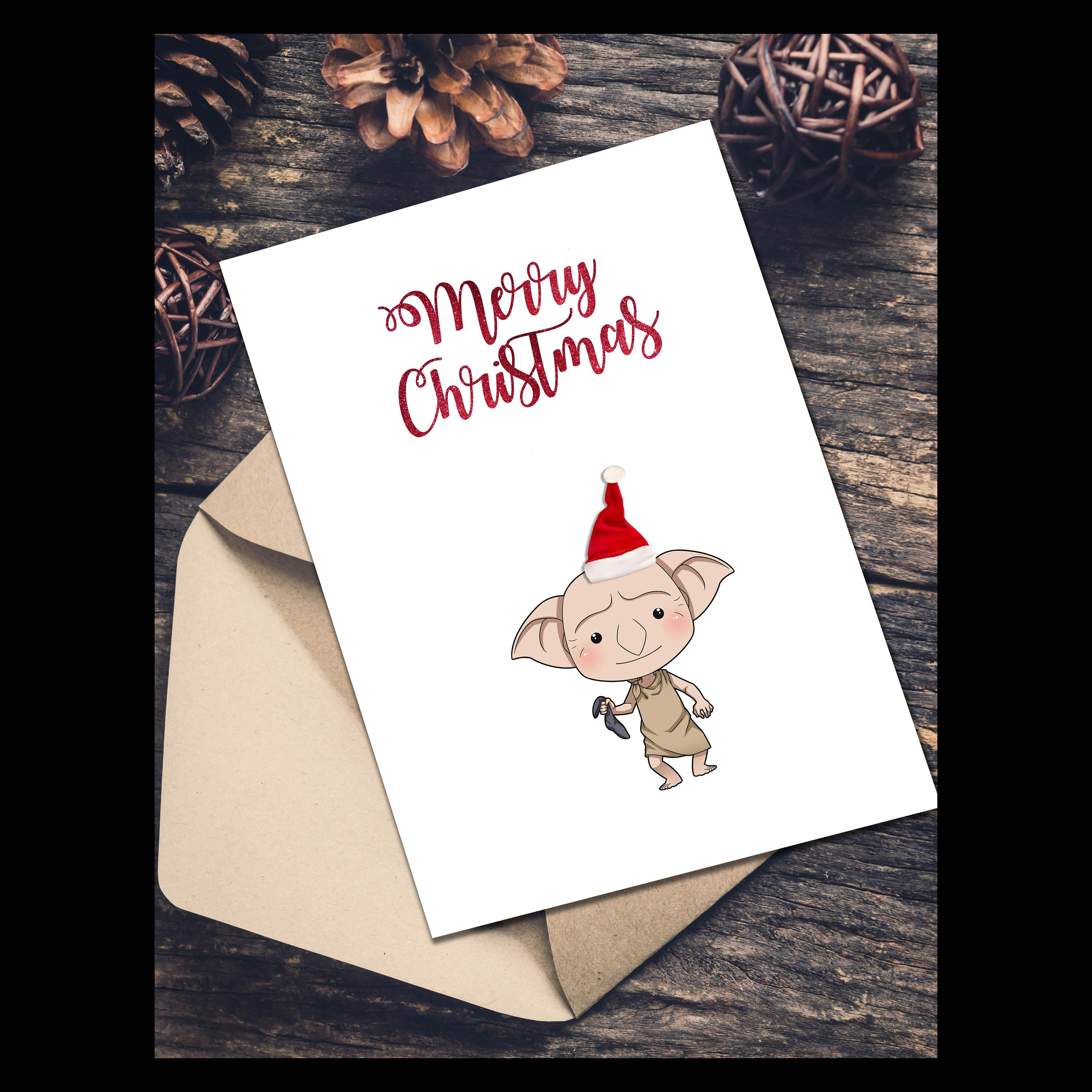 A5 Exclusive Harry Potter inspired Christmas card featuring | Etsy