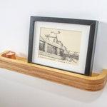 2 x Floating Picture Rail Shelf