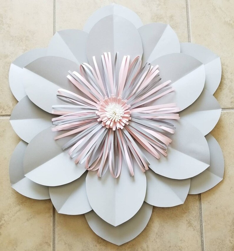 Giant Paper Flower Paper Flowers Paper Flower Backdrop Wedding Backdrop Wedding Decor Baby Nursery Decor Baby Nursery