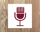 Vintage Microphone Decal (Free Shipping)
