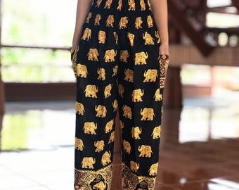 dd7126fccc62 Elephant Boho hippie chic yoga meditation harem pants, Thai rayon hippie  festival bohemian clothing, Birthday gifts, Festival clothing