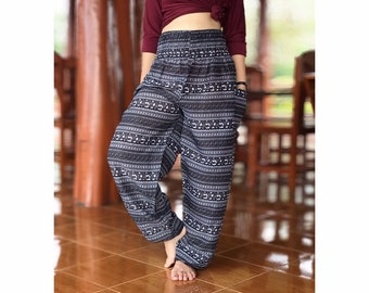 50799754133 Boho hippie pants, chic yoga meditation harem pants, Thai rayon hippie  festival bohemian clothing, Birthday gift for him her, Hippie clothes