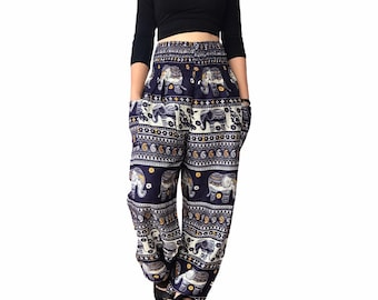145992e03e Thai elephant Boho hippie chic yoga   meditation harem pants