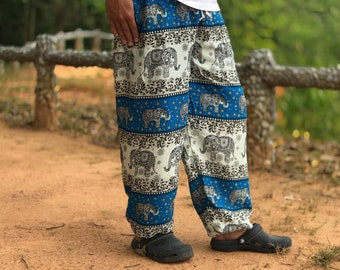 Boho hippie harem pants and hippie festival door hOnGTOnGshop