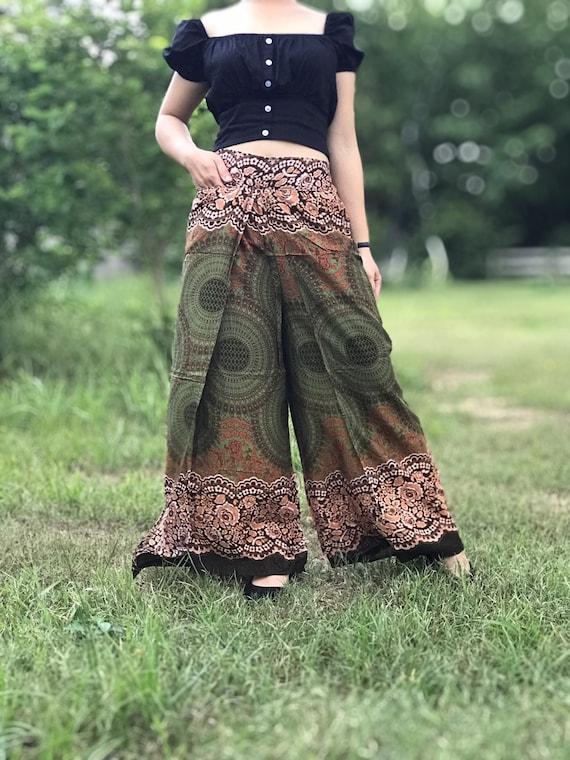 Hippie pants Bohemian clothing Boho pants Palazzo pants Slit pants Hippie clothing Wide leg pants Open leg pants Festival pants