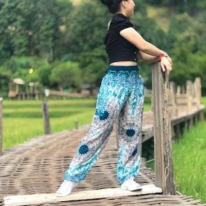 Yoga Meditation Festival Boho Pants Comfy Bohemian Hippie Festival Clothing Mandala Woman Hippie Harem Birthday Clothes Gift For Her