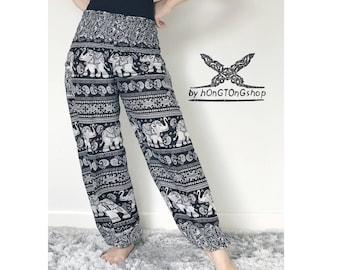 Harem pants women/Thai rayon Comfy Harem pants/Yoga pants / Hippie pants / Meditation Harem Pants / Boho pants / Gypsy pants/ Elephant pants