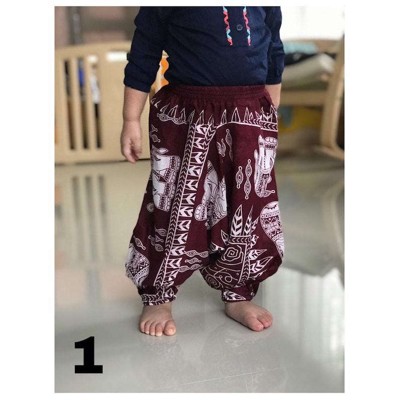 7d2057196 Baby kids Harem pants Thai rayon Comfy Kids Hippie pants Baby   Etsy