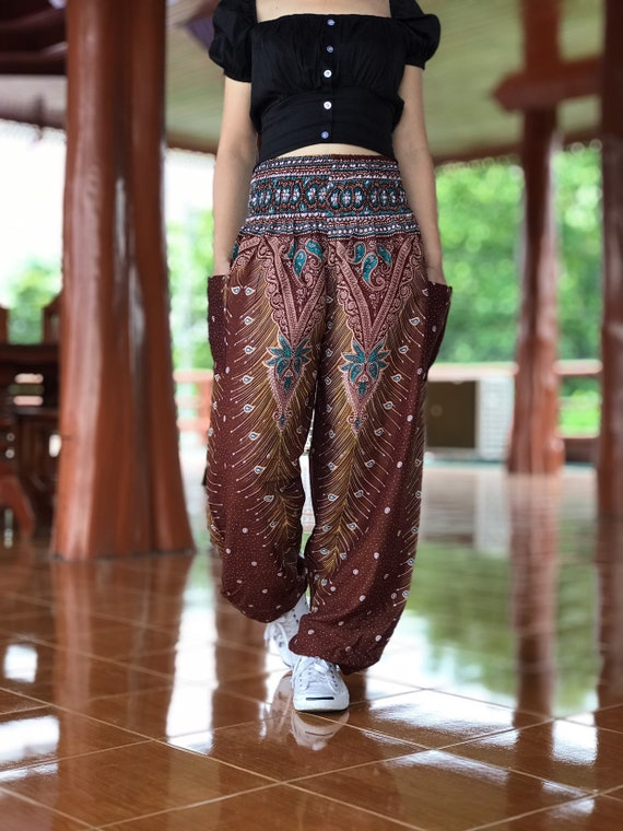 Meditation Pants Hippie Pants Yoga Pants Bohemian Boho pants Festival Clothing Hippie clothes women Hippie clothing Harem Pants