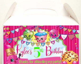 shopkins party favors, shopkins treat boxes, shopkins goodie box, goodie bag