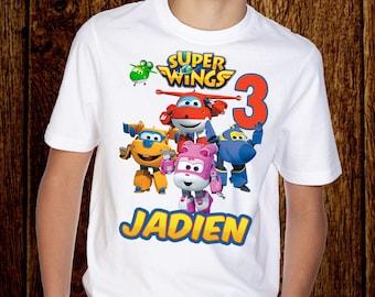 Super Wings Birthday Shirt 396c6ebe2