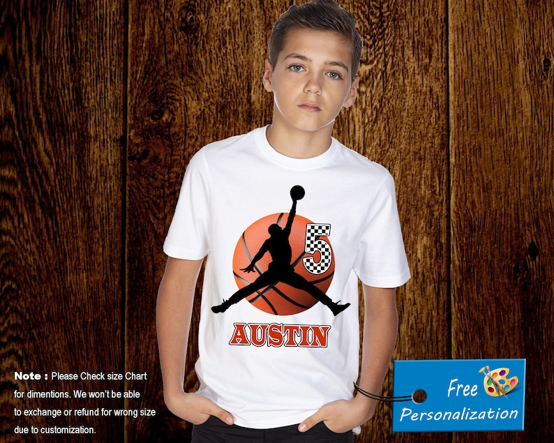 Personalized Air Jordan Basketball Birthday Shirt Add Name