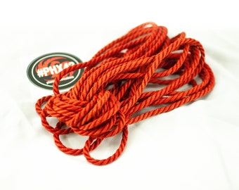 8 pieces True Red - Hand made and dyed jute rope for Shibari / Kinbaku