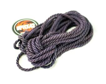 8 pieces Lilac - Hand made and dyed jute rope for Shibari / Kinbaku