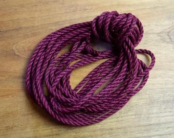Crimson - Hand made and dyed jute rope for Shibari / Kinbaku