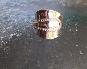 Sterling Silver Antique Teaspoon Ring