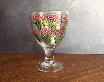 Hand-Painted Glass Tea-light Holder