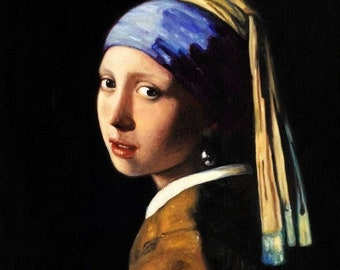 Jan Vermeer-The Girl with the Pearl Earring b95073 40 x 50 cm aesthetic image of the museum quality