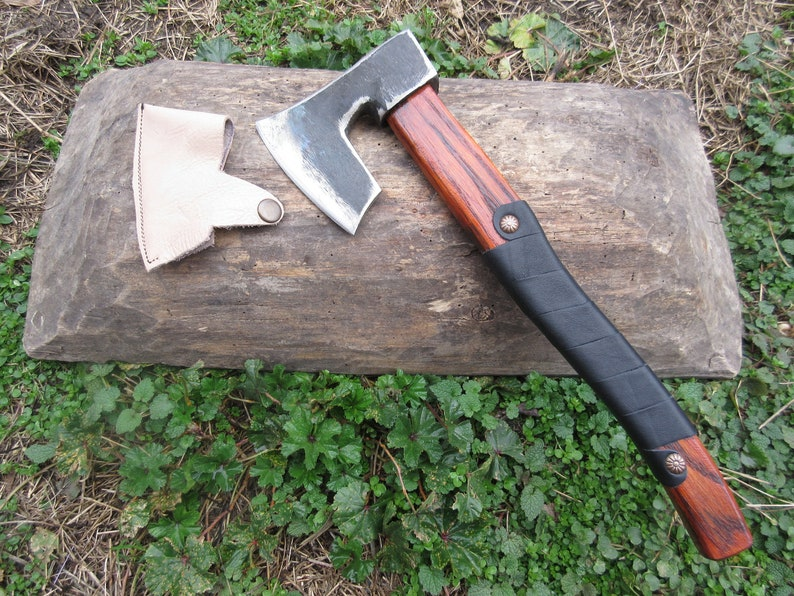 Forged Handmade Viking Style Steel Bearded Blank Axe Head Throwing Hatchet  Camping  Hiking  Bushcraft  Hunting  Woodworking Hand Tool
