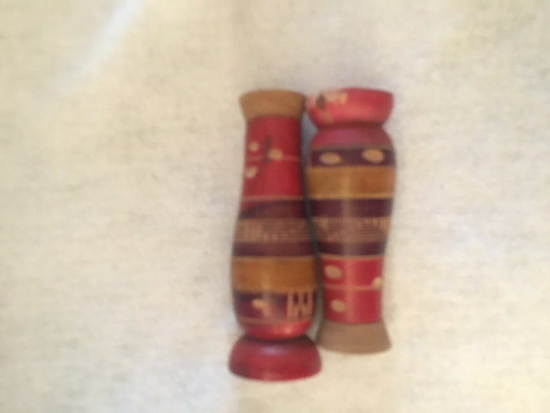FREE SHIPPING Vintage 1960\u2019s Mexican Salt and Pepper Shakers Wooden