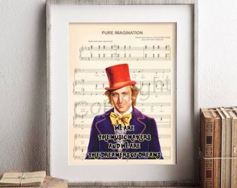 Willy wonka quotes | Etsy