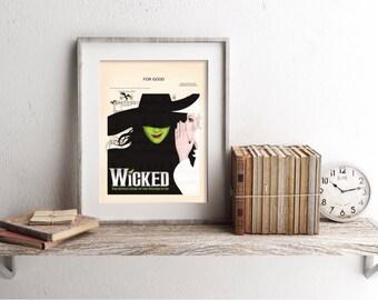 Wicked For Good Elphaba and Glinda Sheet Music Art Print