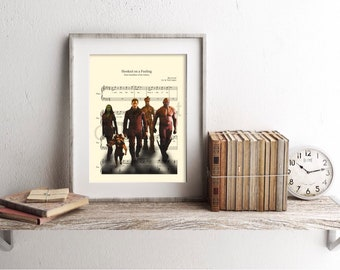 Guardians of the Galaxy Hooked On A Feeling Sheet Music Art Print