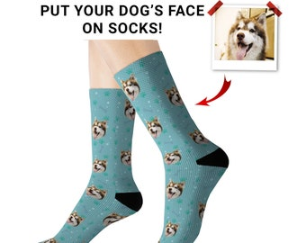 Custom Dog Face Socks, Put Your Dog On Socks, Personalized Pup Faces Gifts, Mothers & Fathers Day Gift Puppy Owner Pet Lover Dog Mom Dad