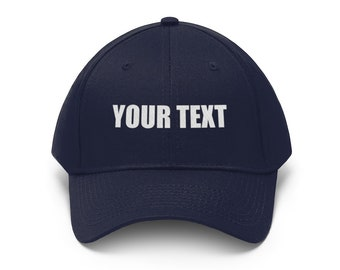 Custom Embroidered Hat, Customized Dad Hat, Personalized Words Baseball Cap, Add Your Embroidery Text, Unisex Twill Hats for Men & Women