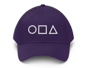 Circle Square Triangle Embroidered Dad Hat Gamer Geometric Shapes Gaming Baseball Cap