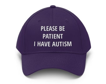 Autism Awareness Hat, Embroidered Cap For Autistic Person, Autism Aware Gift, Please Be Patient I Have Autism, Acceptance Be Kind Dad Hats