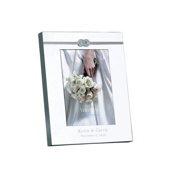 Vera Wang Wedgwood Infinity Personalized 5x7 Picture Frame Etsy