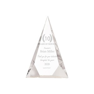 Ravanox Personalized 5 x 5 Crystal Star Plaque Award with Text and Logo Upload Custom Engraved Glass Awards and Trophies