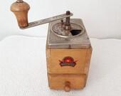 Vintage Coffee Grinder Garantiert Geschmiedetes Mahlwerk Antique Garantiert Geschmiedetes Mahlwerk Mocca Mill