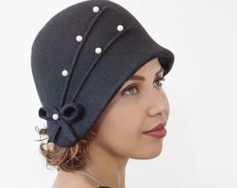 Hat in wool felt..