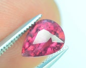 Top Color, Untreated, Gorgeous, Amazing, Sparkly Umbalite Garnet ,For Ring, 1.30 ct Malawi Raspberry Dimensions 7.4x 5.9 x 4.5 mm