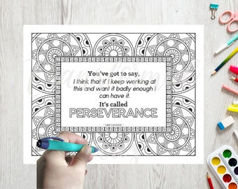 Adult Coloring Page- Quote Coloring Page -Word Coloring - Line Art- Printable - Instant Download PDF- Print at Home-Color Therapy