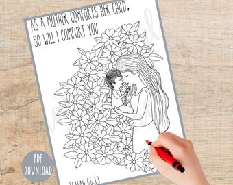 Bible Verse Coloring page   Printable   Instant Download PDF   Scripture Coloring  Christian Coloring page   Religious   Sunday School