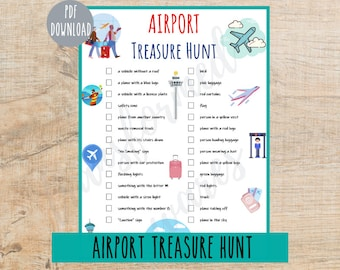 Airport Treasure Hunt for Kids | Indoor Scavenger Hunt Game | I Spy Games | Printable Activities for Children | Boredom | Travel Games
