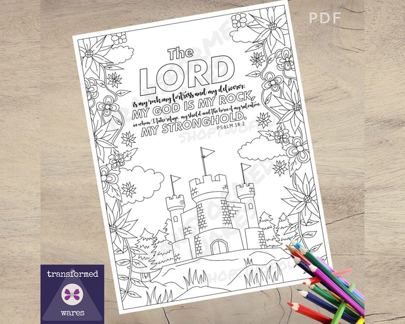 Scripture Coloring Page Bible Verse Coloring Page Printable image 0