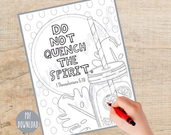 Bible Verse Coloring page   Printable   Instant Download PDF   Inspirational Color Sheet  Christian    Religious   Sunday School   Adult