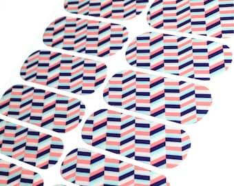 Jamberry Modern Herringbone Nail Wraps, Host Exclusive, Full Sheet