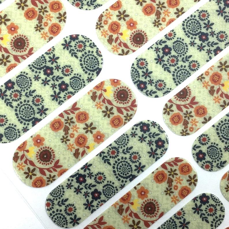 Health & Beauty full Sheet Nice Jamberry Nail Wraps~ Navy Skinny Stripe