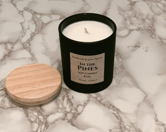 In the Pines Soy Candle - Matte Black Jar