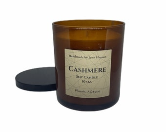 Cashmere Soy Candle - 10 oz Amber Tumbler