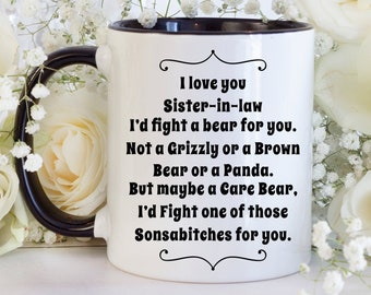 Christmas Gifts For Sister In Law.Sister In Law Cup Etsy