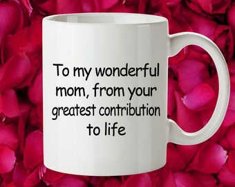 Mom Gift Birthday Idea Cute Funny For Happy Thank You From Daughter Son